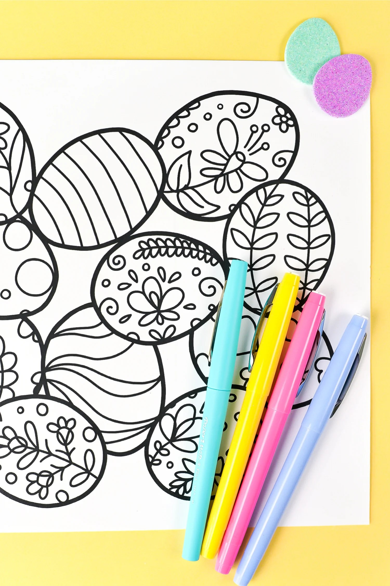graphic about Free Printable Easter Eggs known as Cost-free Printable Easter Coloring Website page - Hey, Will allow Deliver Things