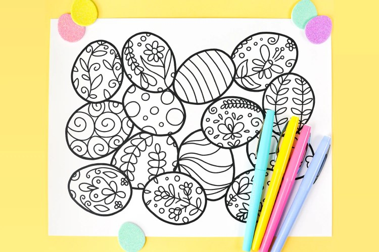 Free Printable Easter Coloring Page - Hey, Let\'s Make Stuff