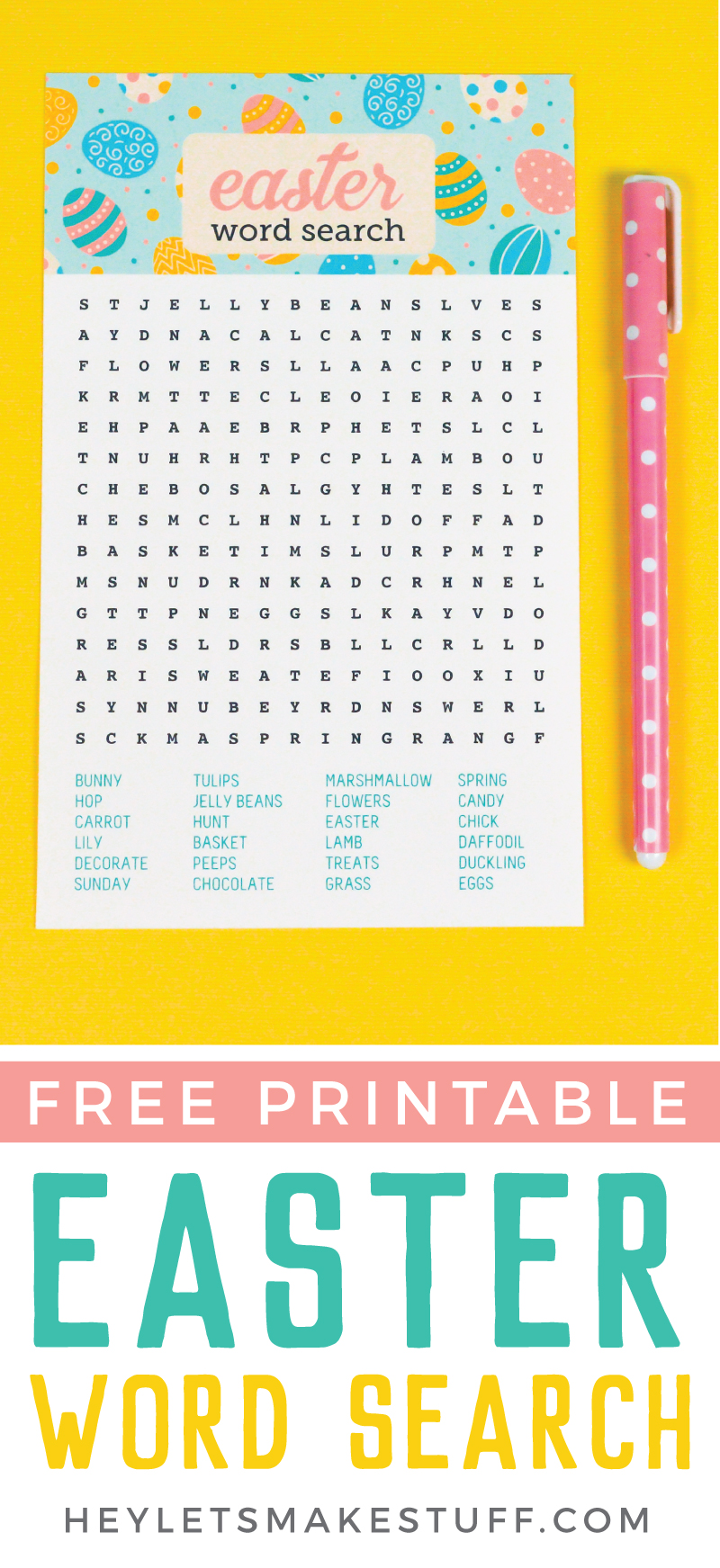 picture about Printable Easter Wordsearch named Printable Easter Term Appear - Hey, Allows Produce Things