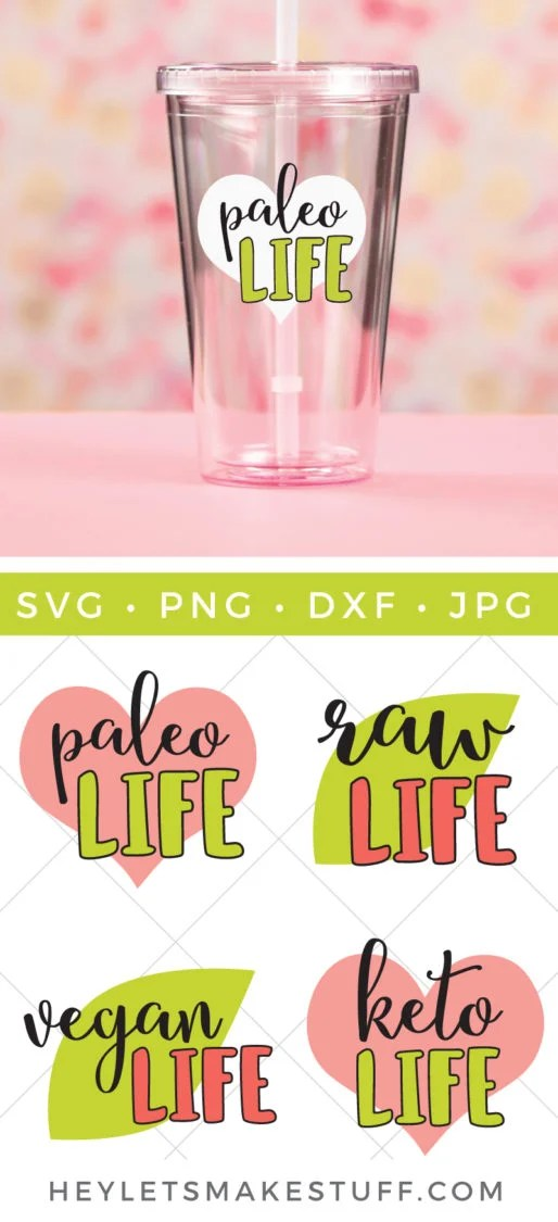 Get ready to get healthy! Whether you eat paleo, vegan, keto, or raw, this healthy living SVG bundle has everything you need to tell the world that you're passionate about what you put in your body.