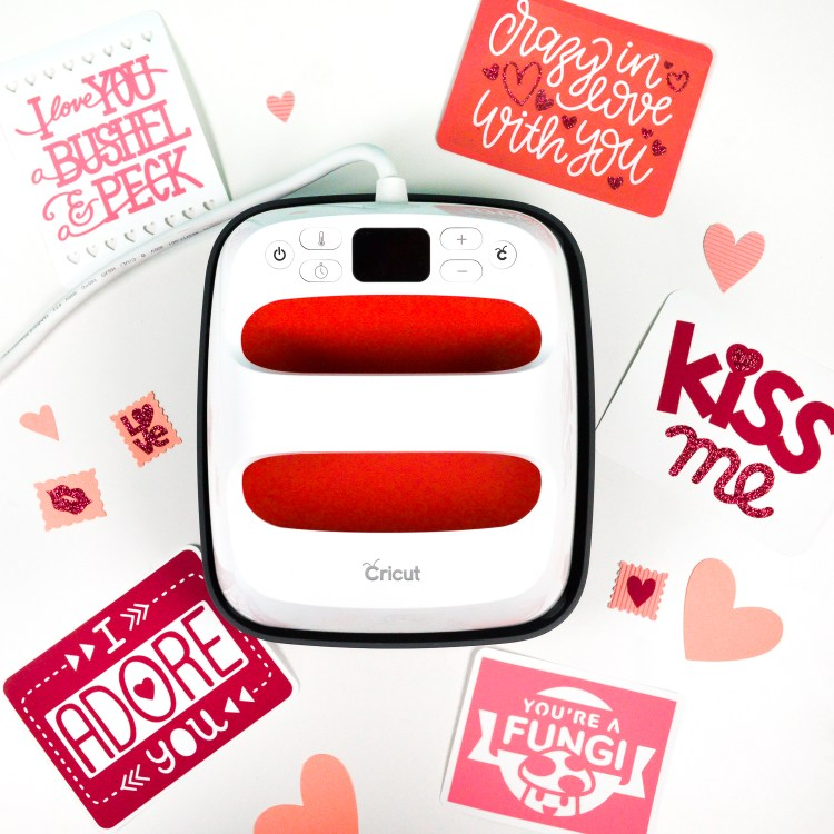Beauty shot of Cricut love letters with Cricut EasyPress