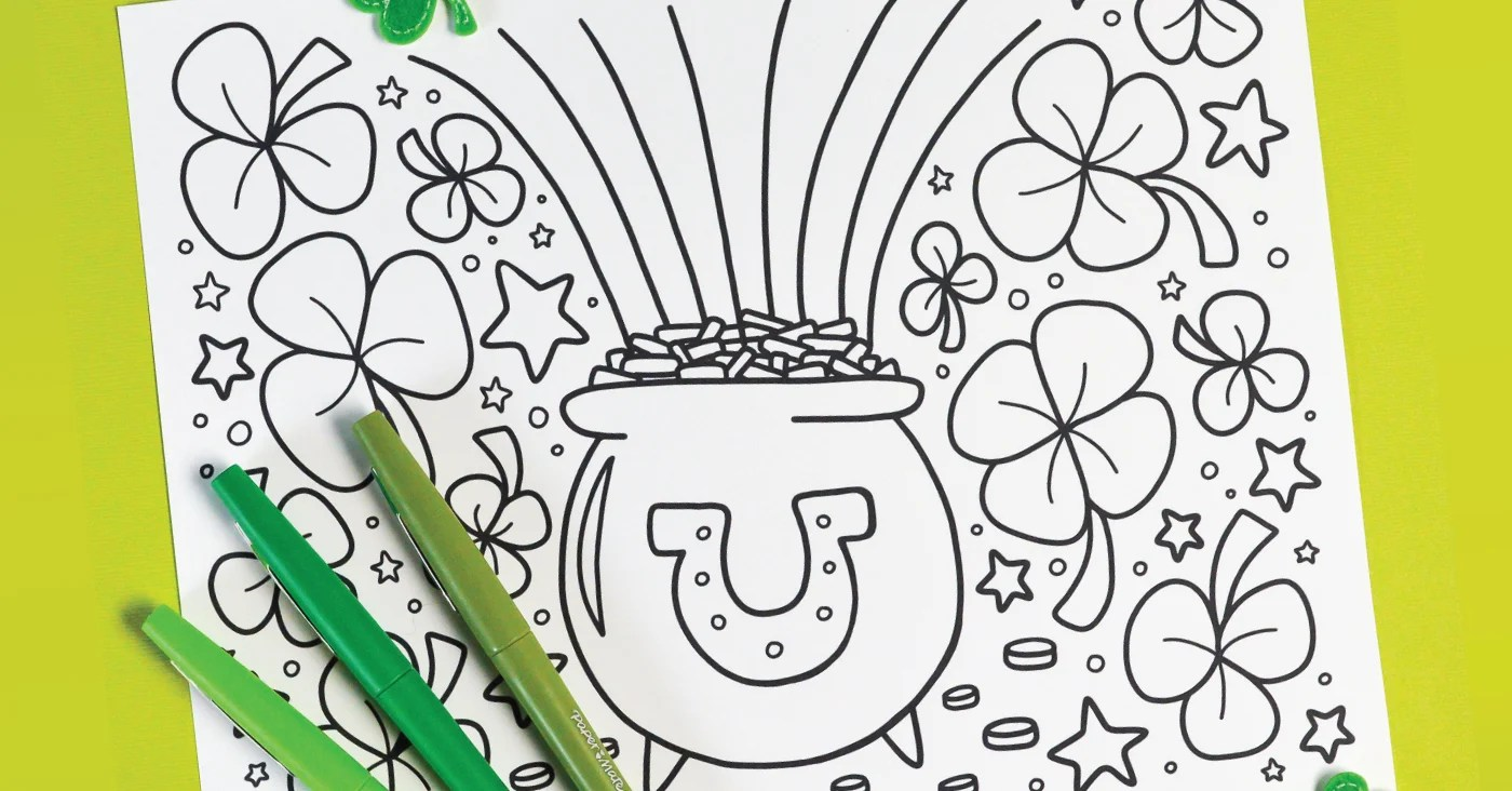 Free Printable St. Patrick's Day Coloring Page - Hey, Let ...