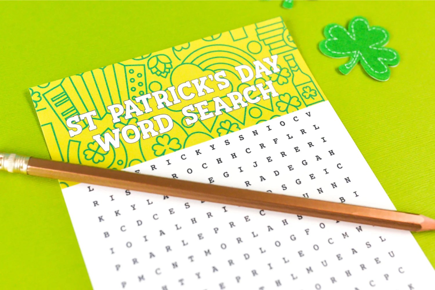 image about St Patrick Word Search Printable identified as Cost-free Printable St. Patricks Working day Phrase Glance - Hey, Will allow