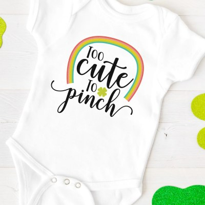 Too Cute to Pinch SVG + 15 Free St. Patrick's Day Cut Files!