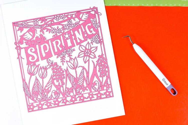 Print image to make weeding vinyl easier