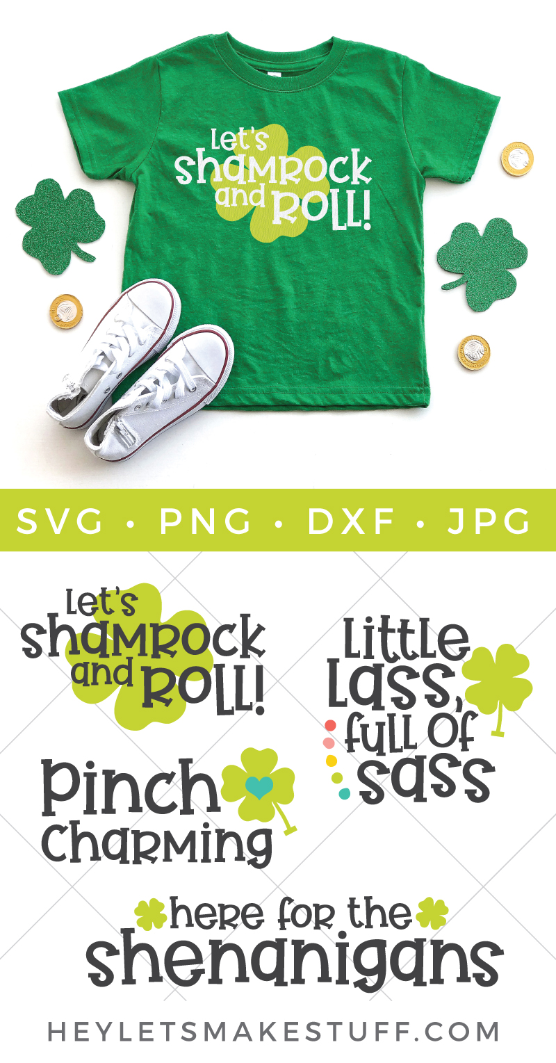 Shamrocks, leprechauns, pots of gold and rainbows - it's almost like St. Patrick's Day was made for kids. Use this Kids St. Patrick's Day SVG Bundle to add some luck of the Irish embellishment to t-shirts, onesies, greeting cards, treat bags and so much more! via @heyletsmakestuf