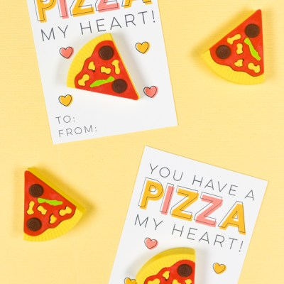 Free Printable Pizza Valentines