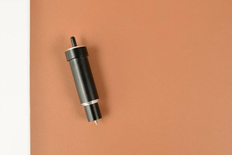 Cut Cricut genuine leather using the Cricut Explore or Maker using the Deep Cut blade.