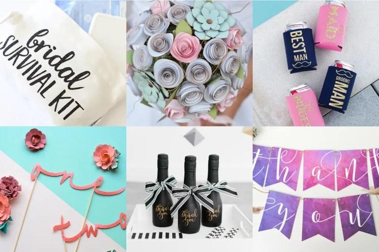 DIY Wedding Ideas with the Cricut - Hey, Let's Make Stuff