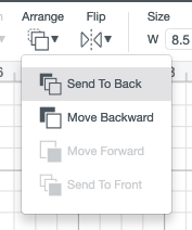 Use the Arrange tool in the Edit Toolbar at the top to send the triangle to the back