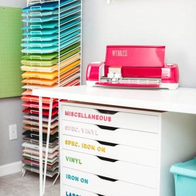 Craft Room Organization Ideas + Craft Room Reveal!