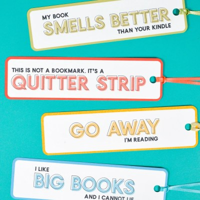 Funny Bookmarks – a Free Printable