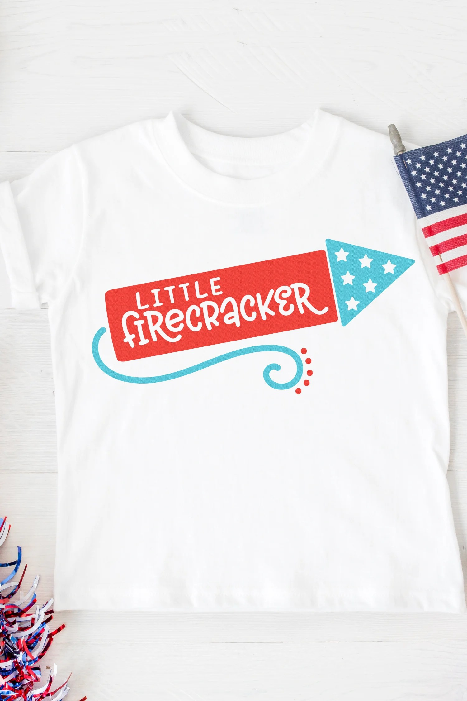 d4406bd8c21 Get your little one in the patriotic spirit using this adorable Little  Firecracker SVG—it s