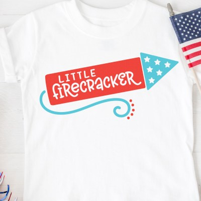 Little Firecracker SVG + 15 Free Patriotic Cut Files