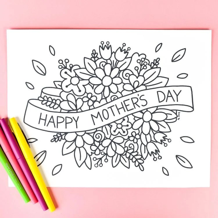 Mother S Day Coloring Page Hey Let S Make Stuff