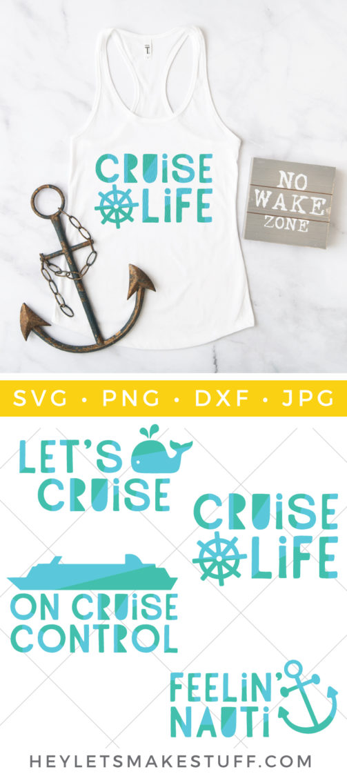 Set sail on a nautical adventure this summer with this Cruise SVG Bundle. Design and accessorize with these four sea-worthy designs and get in the cruise mood!