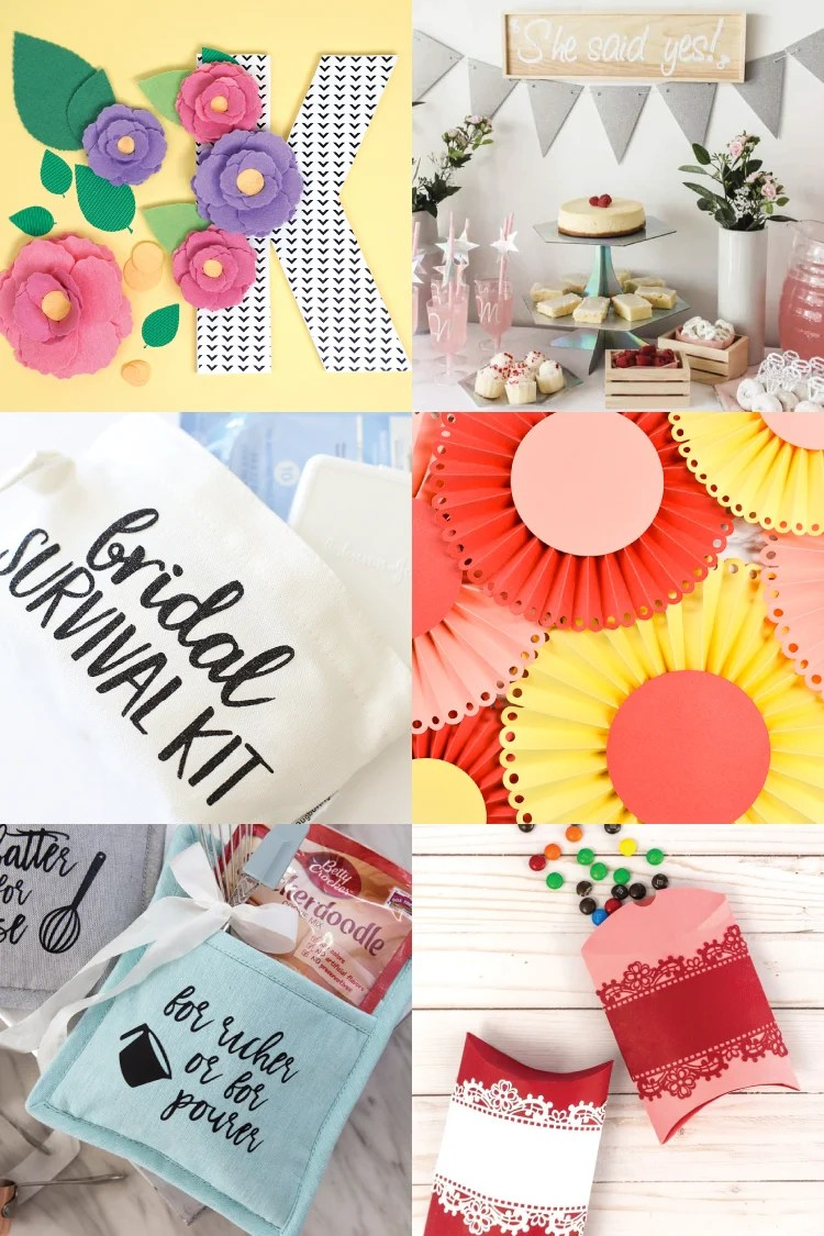 Next to the actual ceremony, bridal showers are the best thing abut weddings! Add the bling, the glam, the fun and all the special touches with these DIY Bridal Shower Ideas with the Cricut.