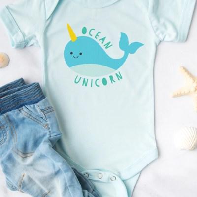 """Ocean Unicorn"" Narwhal SVG + 15 Free Unicorn Cut Files"