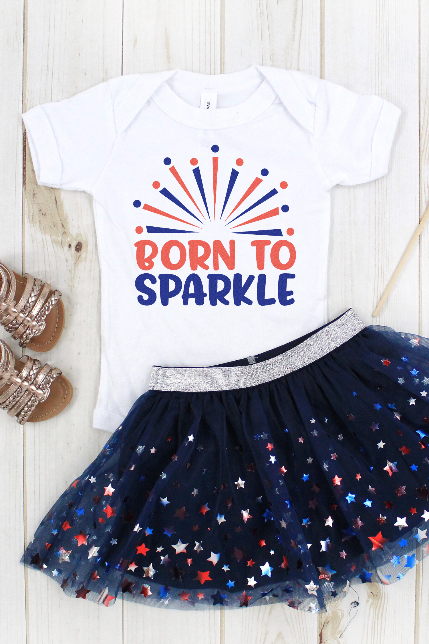 Is your little firecracker ready to celebrate the 4th in style? This 4th of July Sparkler SVG Bundle has everything you need to add some pop to t-shirts, onesies, bibs, blankies and so much more.