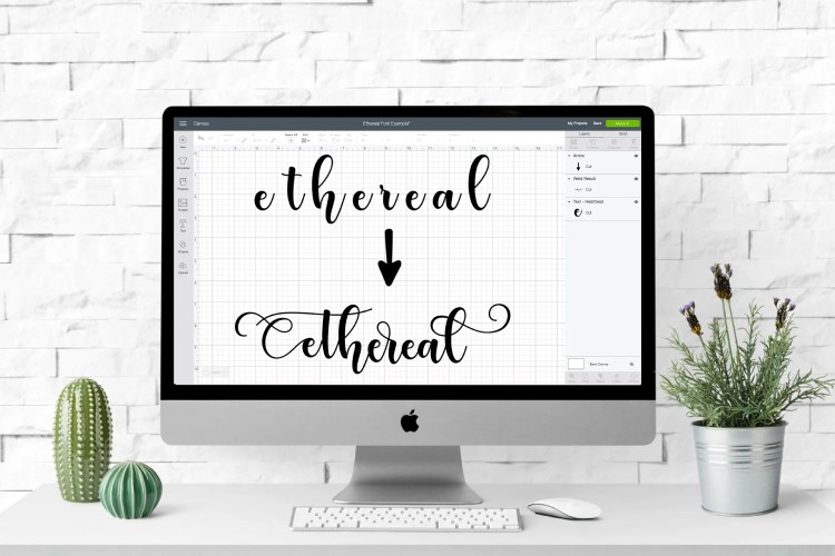 Fonts often come with extras—glyphs, special characters, various letterforms, flourishes, ligatures, stylistic alternatives, and more! Here's how to use these glyphs in Cricut Design Space to make your designs even more unique.