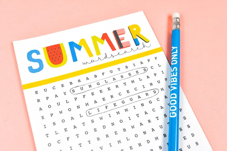 Celebrate the warmest season of the year with this fun summer printable word search! Find all sorts of summer-related words—it's perfect for kids, adults, teachers and students!