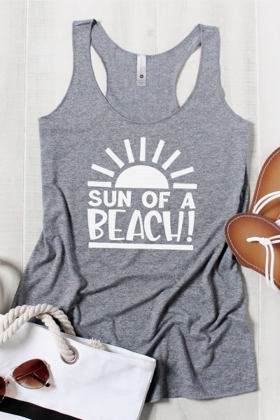 Everyone will love this funny Sun of a Beach summer SVG file! Get it for free, along with more than a dozen other summery cut files.