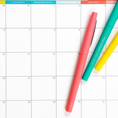 2019–2020 Free Printable Calendar