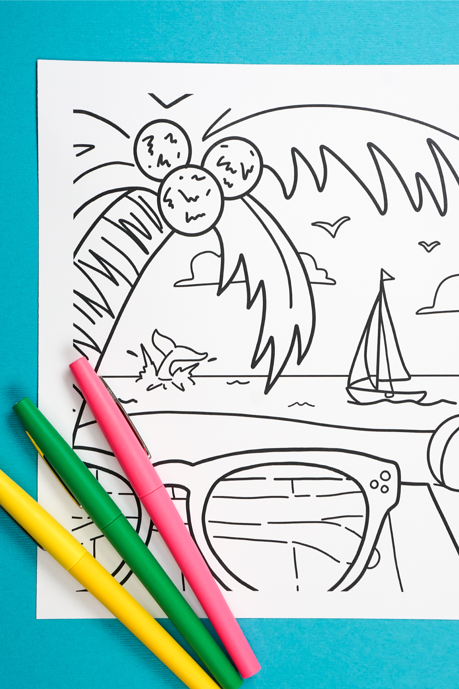 Free Printable Summer Coloring Page Hey Let S Make Stuff