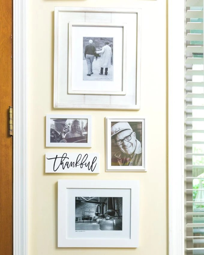 Grab a piece of scrap wood, your Cricut and some of your favorite photos to create this wood wall art from kingstoncrafts.com.