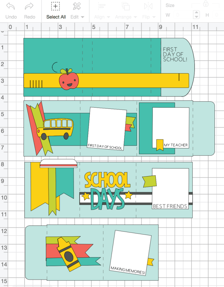 Screenshot of design in Cricut Design Space
