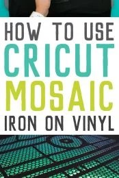 Use Cricut Mosaic Iron On to create depth and glamor to any heat transfer project! Get all my tips and tricks for working with this new material, including some significant ways it is different than regular iron on vinyl.