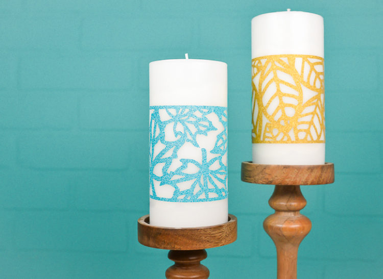 fall leaf candle wraps
