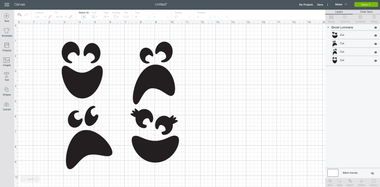 Ghost images in Cricut Design Space