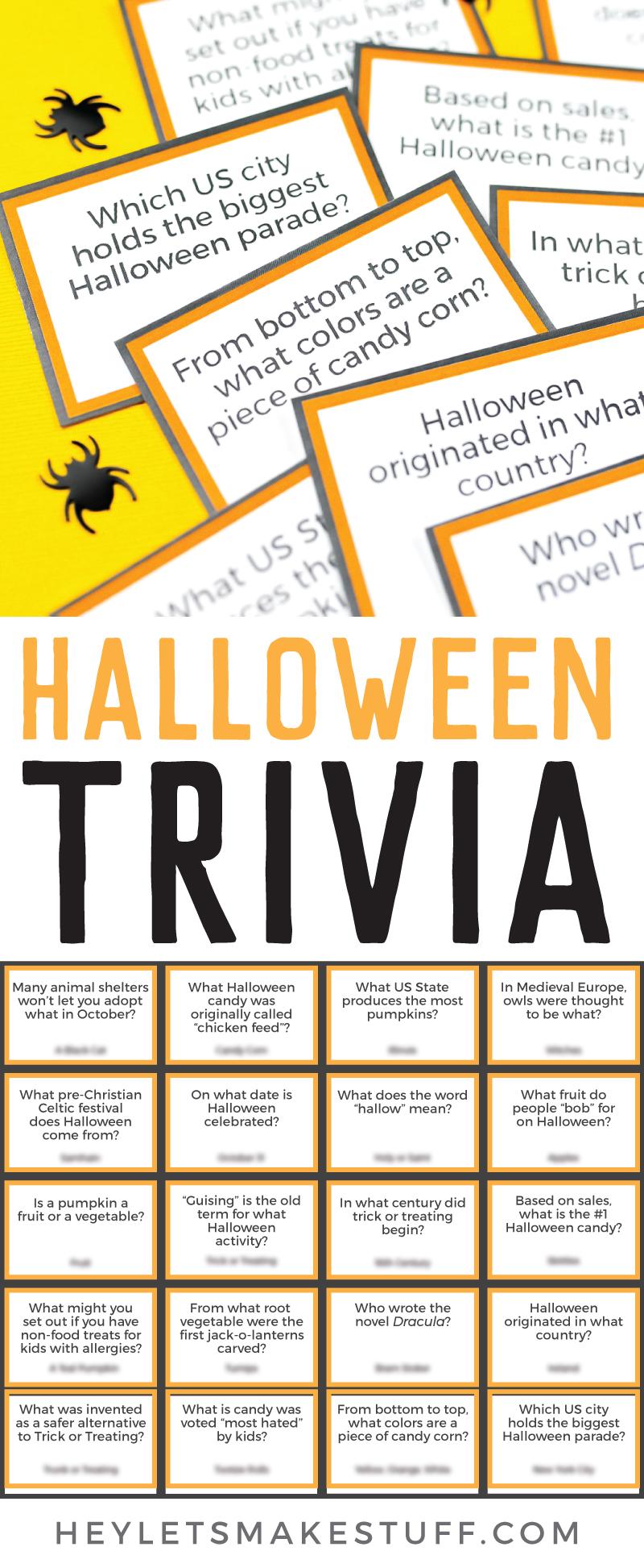 Free Printable Halloween Trivia , Hey, Let\u0027s Make Stuff