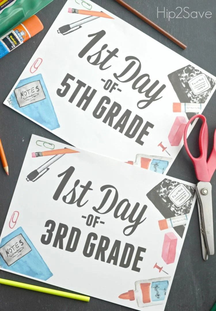 Watercolor back to school signs