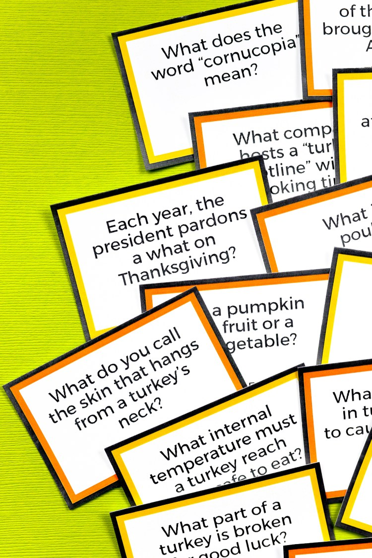 Test your knowledge of every foodie's favorite holiday with this fun printable Thanksgiving Trivia! Perfect for trivia night or as a fun activity after you finish that big Thanksgiving meal. Show off your smarts or learn something new!