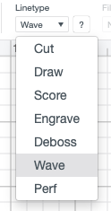 Changing the linetype to Wave in Cricut Design Space