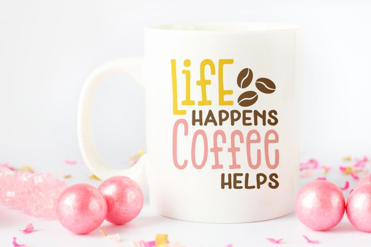 If nothing gets you going in the morning like that happiness in a mug, then this Coffee SVG Bundle is for you! Declare your love for all things coffee with these four funny caffeinated cut files.