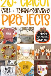 20+ Cricut Fall and Thanksgiving Projects pin image