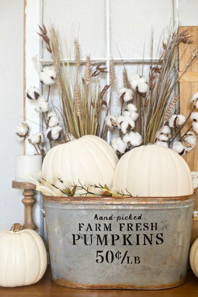 Cricut fall project pumpkin bucket