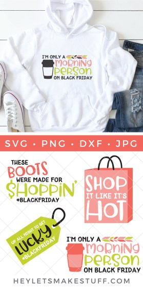 When you can't possibly stuff anymore turkey or pie in your face, it's time to go shopping! Get crafty and gear up for the mother of all shopping days with this Black Friday SVG Bundle.
