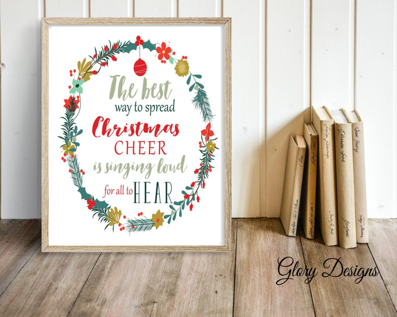 Printable, The best way to spread Christmas Cheer quote, Elf quote, Christmas Quote, Christmas Printable, Christmas Decor print, Best gift