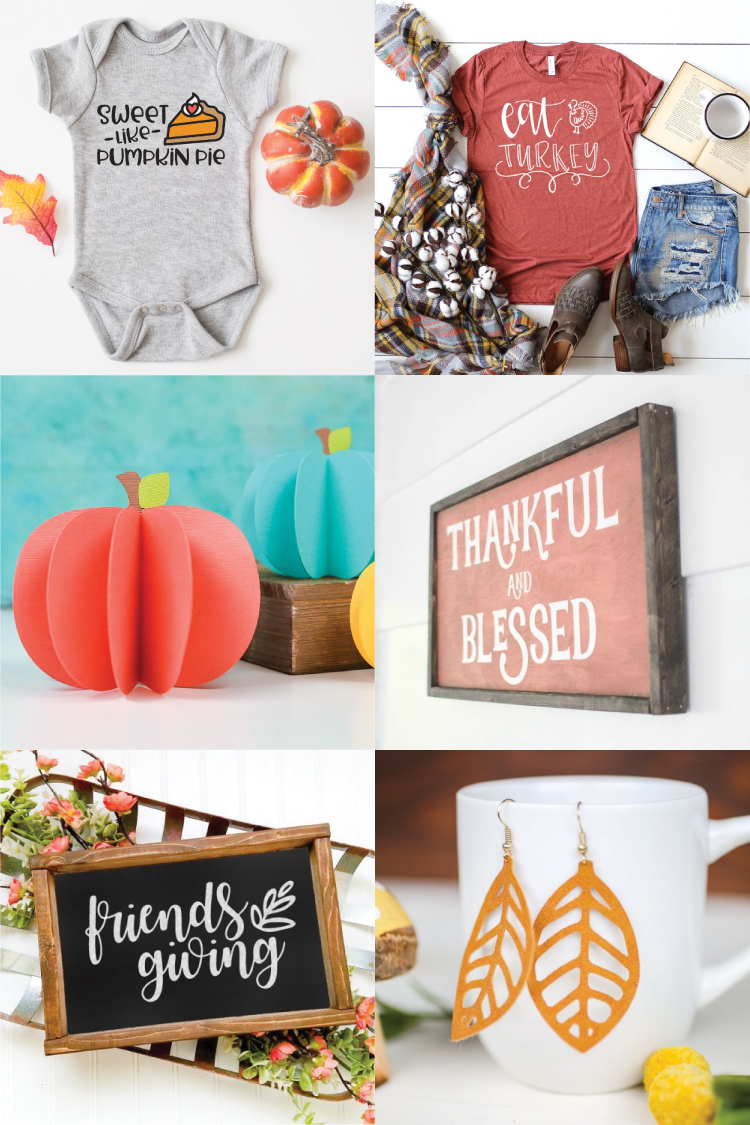 Pumpkins, leaves, turkeys and more! Fall is upon us, let the cooler weather and these Free SVG Files for Fall and Thanksgiving inspire you to get crafty!