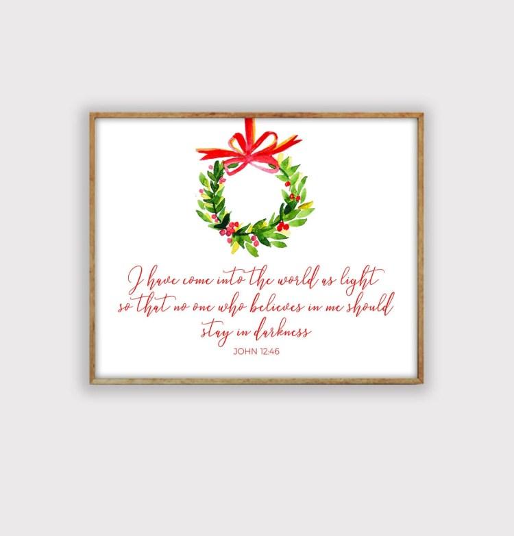 Christmas Scripture Print, Christmas Jesus Art Print, Christian Christmas Print, LDS Christmas Print, Christmas Art Print