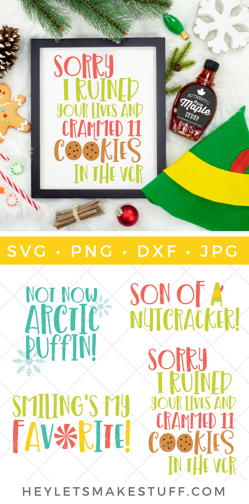 'Tis the season of Elf! Bring Santa's hilarious overgrown helper to life with this Elf SVG Bundle, full of your favorite movie quotes. Perfect for sweaters, t-shirts, party decor and fun printables.  via @heyletsmakestuf