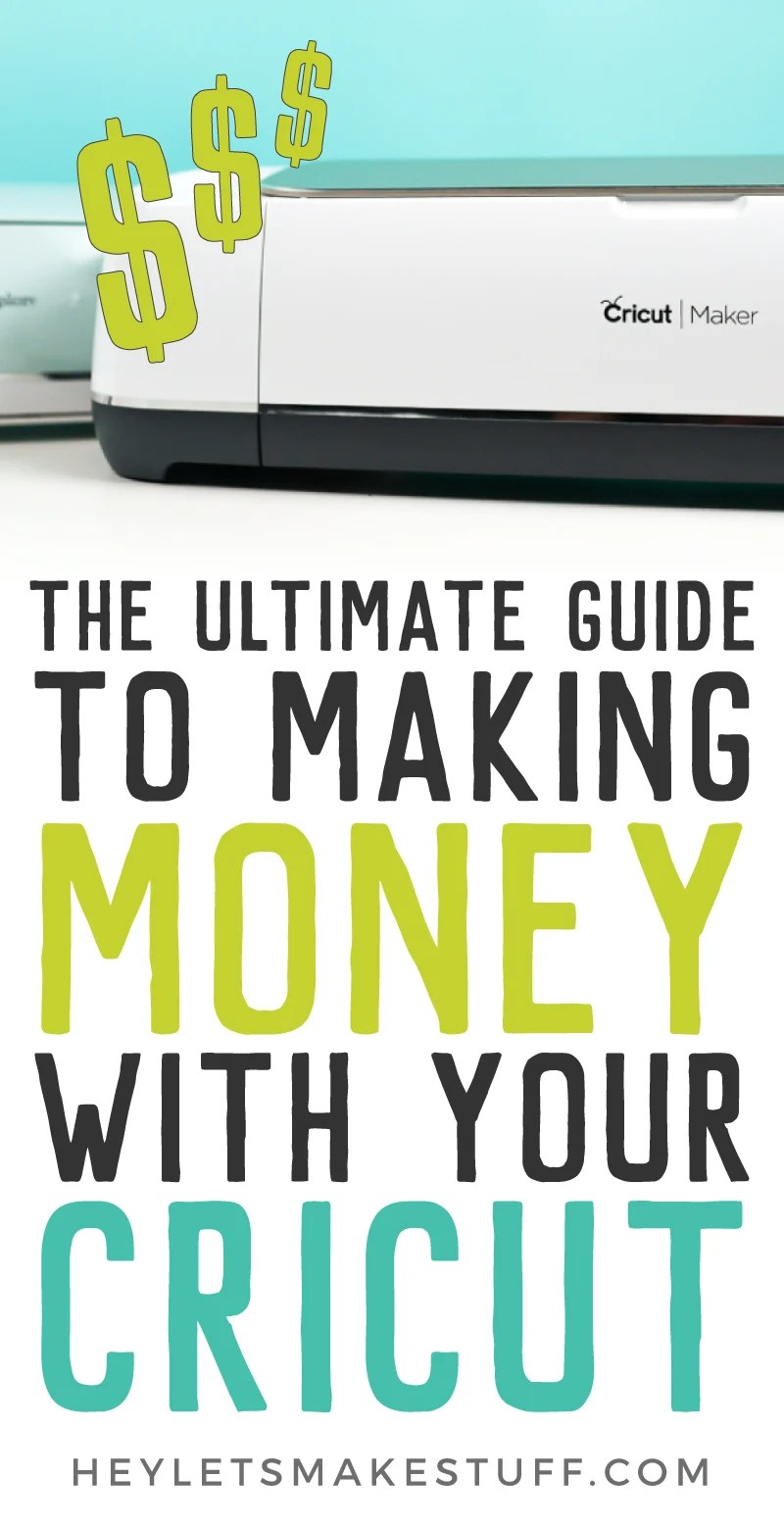 "If you've ever wondered, ""can I make money with my Cricut?"" the answer is yes! Learn everything you need to know about starting a business selling the crafts you make with your Cricut Explore or Maker. via @heyletsmakestuf"