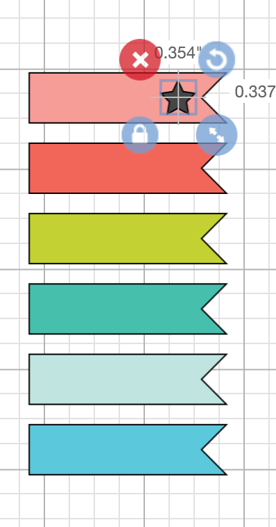 Place the star on the planner sticker and center vertically.