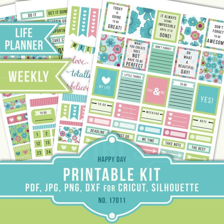 The Happy Planner Girls - Printable Kit