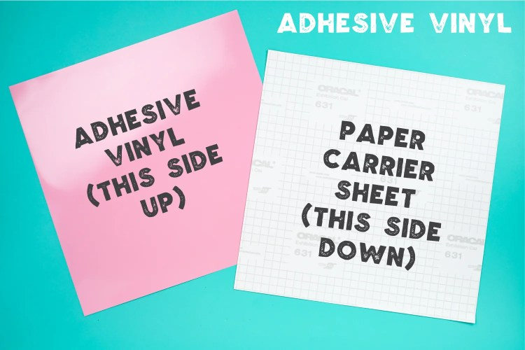 Explanation of back and front of adhesive vinyl