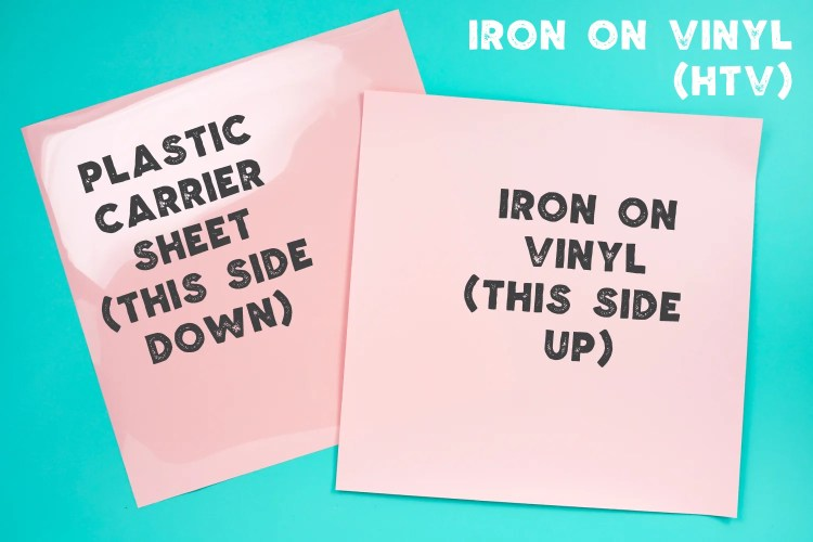 Explanation of back and front of iron on vinyl